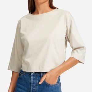 Everlane Tan Lux Cotton Top